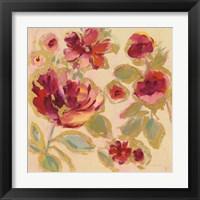 Framed Gilded Loose Floral I