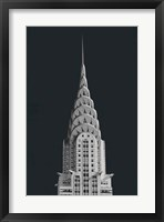 Framed Chrysler Building on Black