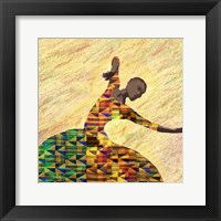 Framed Kente Dancer 1