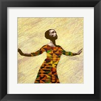 Framed Kente Dancer 2