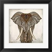 Framed Mandala Elephant