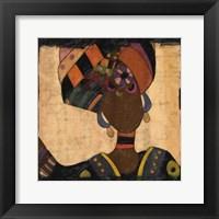 Framed Ethnic Elegance I