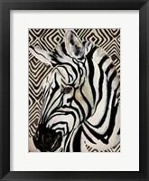 Framed Designer Zebra