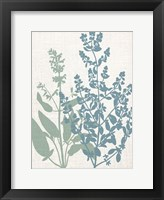Framed Linen Herbs 2