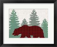 Framed Bear Plaid