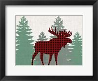 Framed Moose Plaid