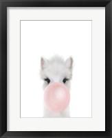 Framed Alpaca Bubble Gum