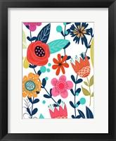 Framed Colorful Floral 1