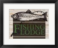 Framed Fishing Lodge
