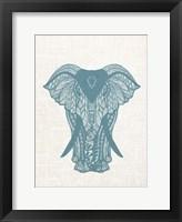 Framed Elephant Mandala