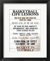 Framed Basketball Life