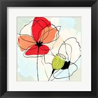 Framed Poppy Square 1