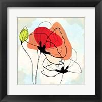 Framed Poppy Square 3