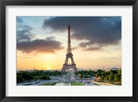 Framed Eiffel Tower Sunset