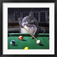 Framed Pool Shark