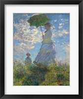 Framed Woman with a Parasol - Madame Monet and Her Son, 1875
