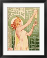 Framed Absinthe Robette, 1896