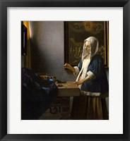 Framed Woman Holding a Balance, 1664