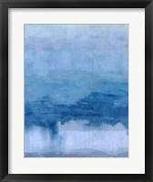 Framed Cerulean Abstract