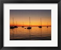 Framed Sunset Boats