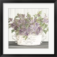 Framed Lilac Galvanized Pot
