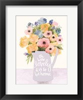 Framed Lovely to Be Home Flowers