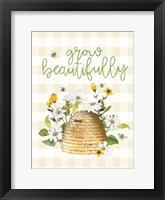 Framed Grow Beautifully Beehive