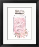 Framed Bloom with Grace Jar