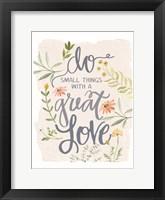 Framed Great Love Flowers