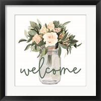 Framed Welcome Flowers