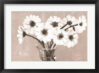 Framed Greige Floral