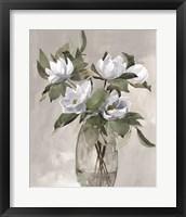 Framed Floral in Gray