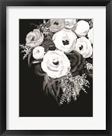 Framed Black and White Floral
