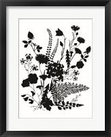 Framed Inked Flowers