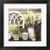 Framed Black and Green Still Life