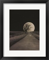 Framed Moonlit Country Road