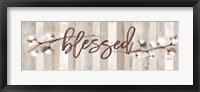 Framed Cotton Stems - Blessed