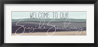 Framed Welcome to Our Seaside Sanctuary