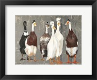 Framed Six Runner Ducks