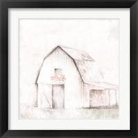 Framed Pastel Barn