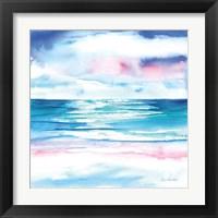 Framed Turquoise Sea I