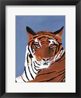 Framed Colorful Tiger