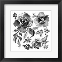 Framed Delft Delight III Black No Words