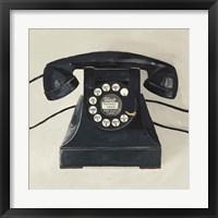 Framed Classic Telephone on Cream