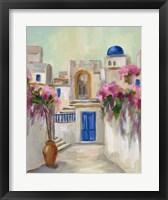 Santorini Street II Framed Print