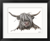 Framed Lucy the Highland Cow