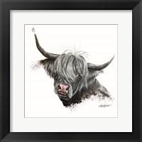 Framed Bashful Cow
