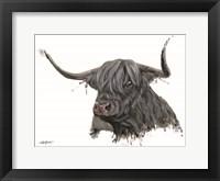 Framed Ethel the Highland Cow