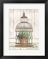 Framed Caged Beauty I