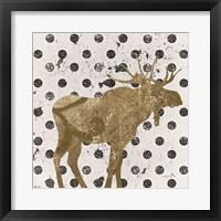 Framed Forest Glam Moose
